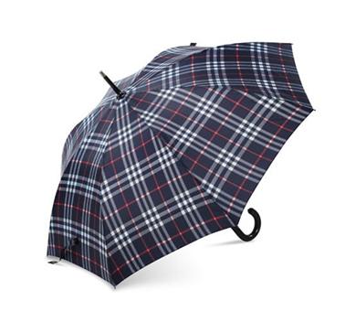 皮革手柄气质直杆伞