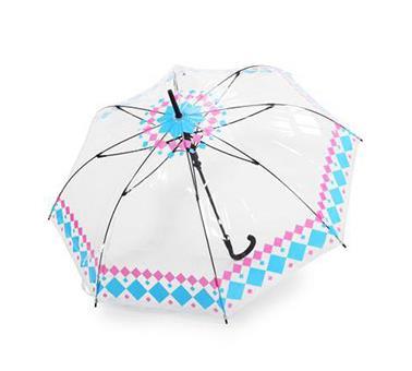 女王PVC透明直杆伞