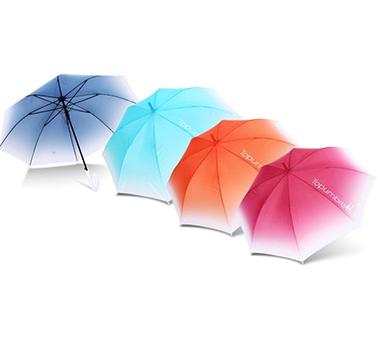 Topumbrella广告伞只做首创渐变色直杆伞