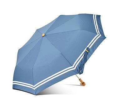英伦兔头木手柄折叠伞