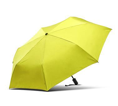 三折黑柄全自动折叠伞