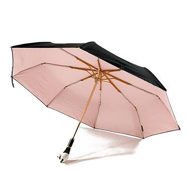 熊猫头手柄防晒折叠伞