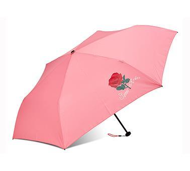 玫瑰印花超轻迷你伞