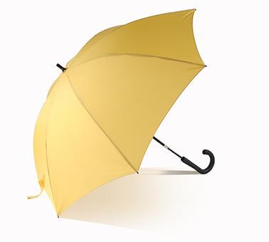 伸缩杆长轴黄色便捷直伞