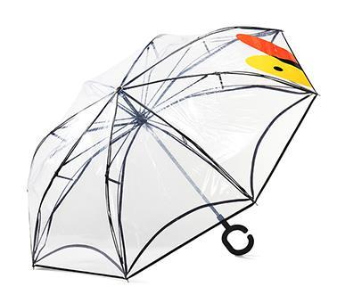 小黄鸭透明反向伞