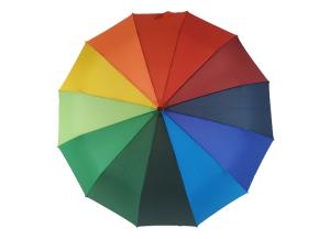 加固12骨自动开收彩虹伞